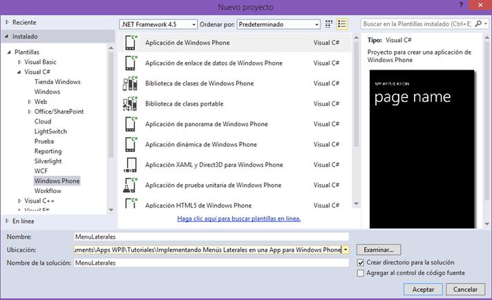 Implementando Menús Laterales en una App para Windows Phone ...