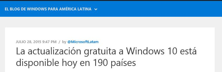 190 paises Windows 10