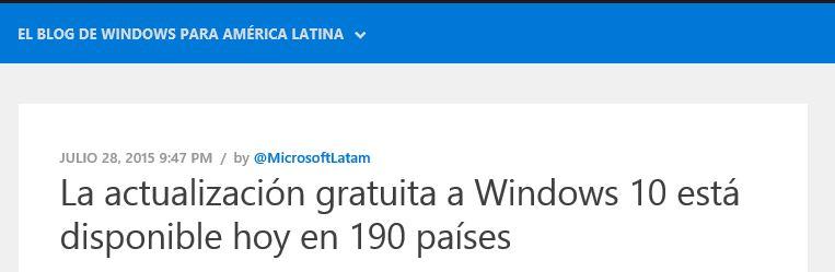 190 paises Windows 10